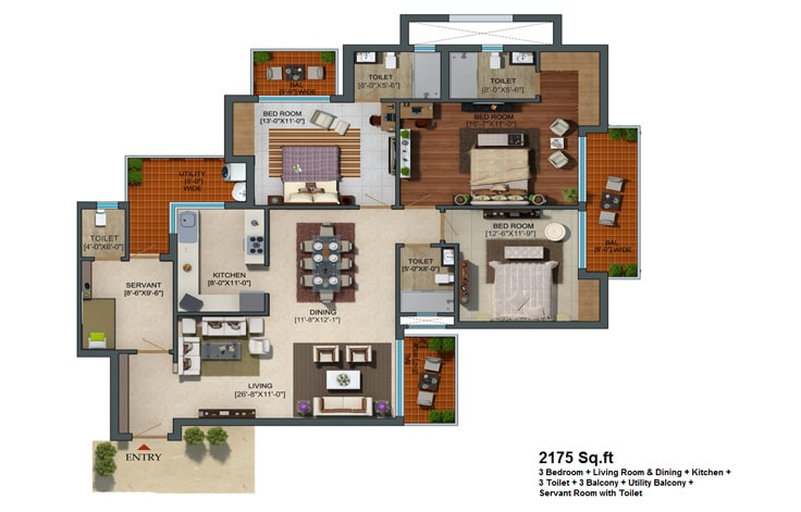 Capital Athena Unit Plan 2175 sqft