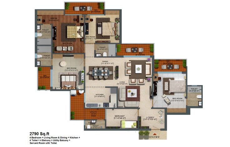 Capital Athena Unit Plan 2990 sqft